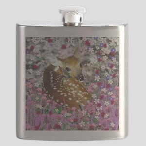 Bambina the Fawn in Flowers II Flask