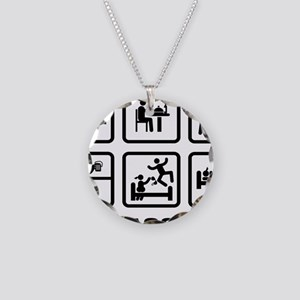 Remote-Control-Car-ABA1 Necklace Circle Charm