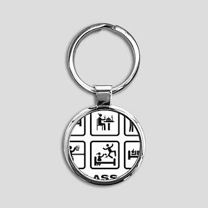 Remote-Control-Car-ABA1 Round Keychain