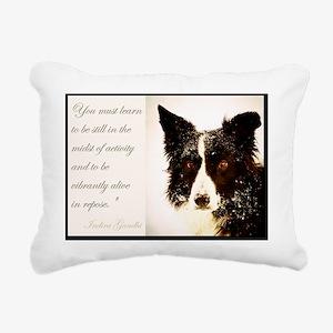 Piper January Rectangular Canvas Pillow