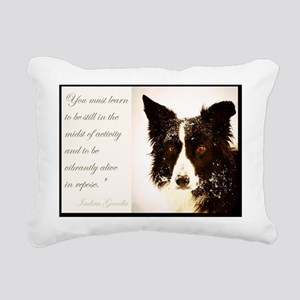 Piper January Rectangular Canvas Pillow