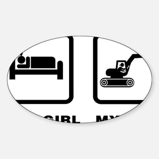 Excavator-ABM1 Sticker (Oval)