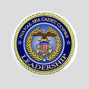 "NAVAL SEA CADET CORPS - LEADERSHIP 3.5"" Button"