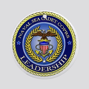 NAVAL SEA CADET CORPS - LEADERSHIP Round Ornament
