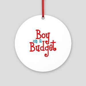 Boy on a Budget Round Ornament