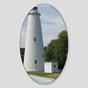 Ocracoke, North Carolina Lighthouse Sticker (Oval)