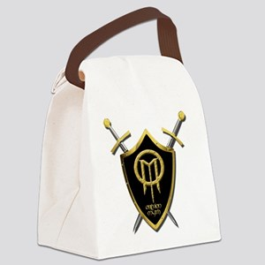Shield with Crossed Swords Canvas Lunch Bag