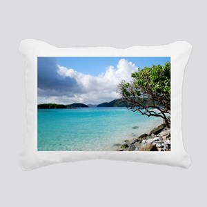 Cinnamon Bay, St. John V Rectangular Canvas Pillow