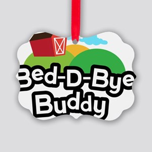 Farmyard Cow Bed-D-Bye Buddy Picture Ornament