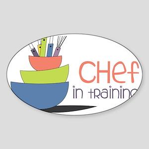 Chef in Training Sticker (Oval)