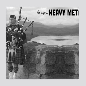 Bagpipes Heavy Metal Mouse Pad Tile Coaster