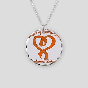 Orange Signature Color Necklace Circle Charm