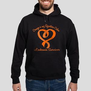 Orange Signature Color Hoodie (dark)
