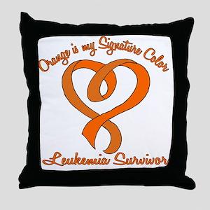 Orange Signature Color Throw Pillow