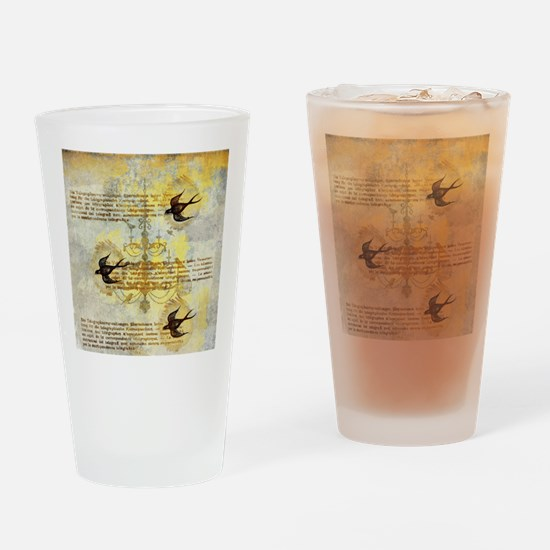 Vintage Birdies Drinking Glass