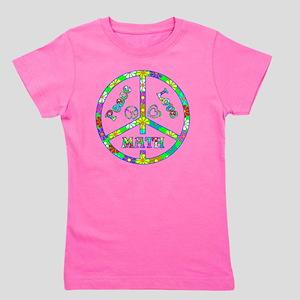 Peace Love Math Girl's Tee