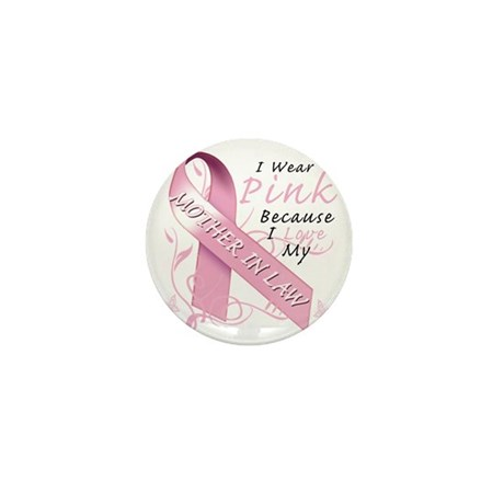 I Wear Pink Because I Love My Mother i Mini Button
