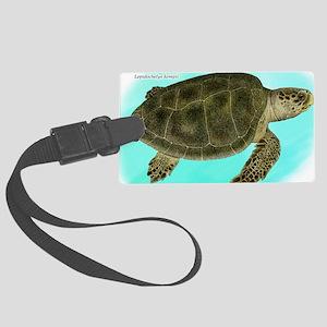 Kemps Ridley Sea Turtle Large Luggage Tag