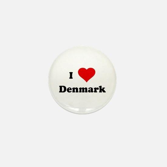 I Love Denmark Mini Button