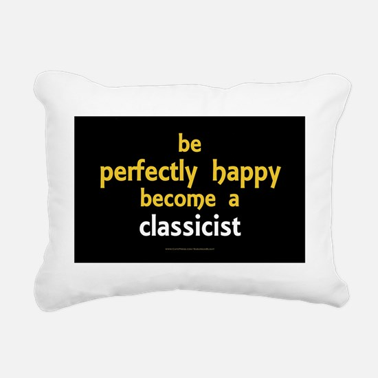 Perfectly Happy Classici Rectangular Canvas Pillow