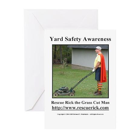 Yard Safety Awareness Greeting Cards (6)