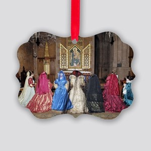 Her Majesty and Ladies at Prayer Picture Ornament
