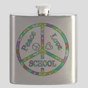 Peace Love School Flask