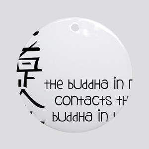 Buddha In Me Round Ornament