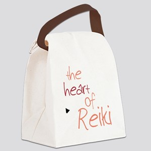 The Heart Of Reiki Canvas Lunch Bag