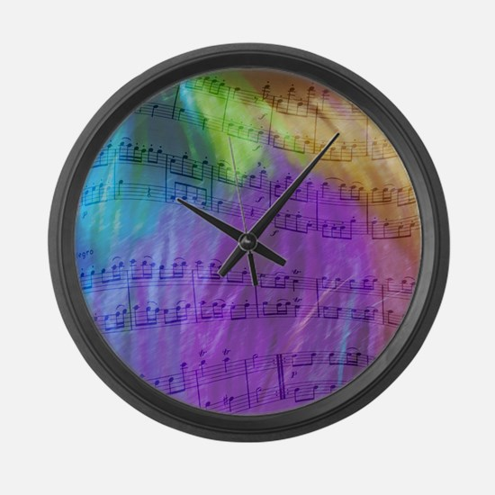 Musical Notes Large Wall Clock