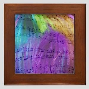 Musical Notes Framed Tile