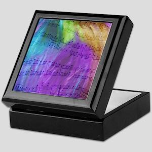 Musical Notes Keepsake Box