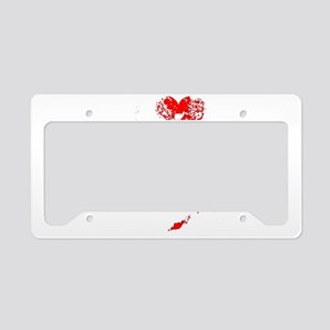 I Love Zombies License Plate Holder
