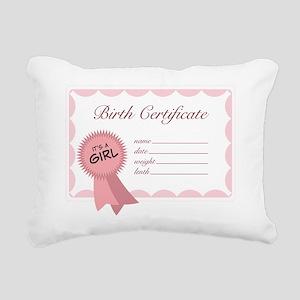 It's A Girl Rectangular Canvas Pillow