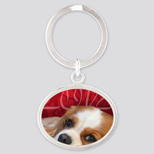 Cavalier King charles Spaniel Love Oval Keychain