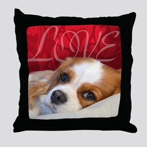 Cavalier King charles Spaniel Love Throw Pillow