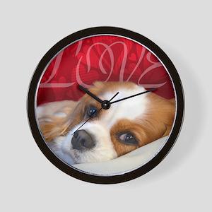 Cavalier King charles Spaniel Love Wall Clock