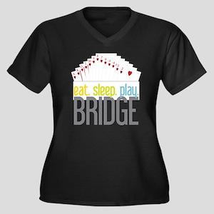 Bridge Women's Plus Size Dark V-Neck T-Shirt