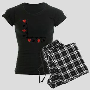 Playing Cards Corner Women's Dark Pajamas