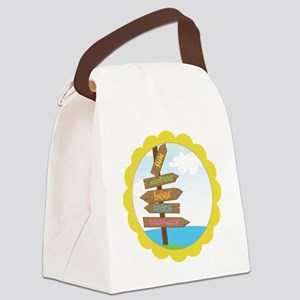 Beach Signs Canvas Lunch Bag