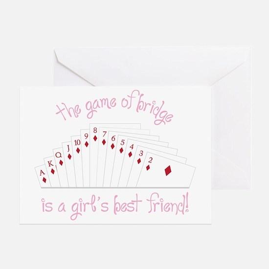 Game Of Bridge Greeting Card
