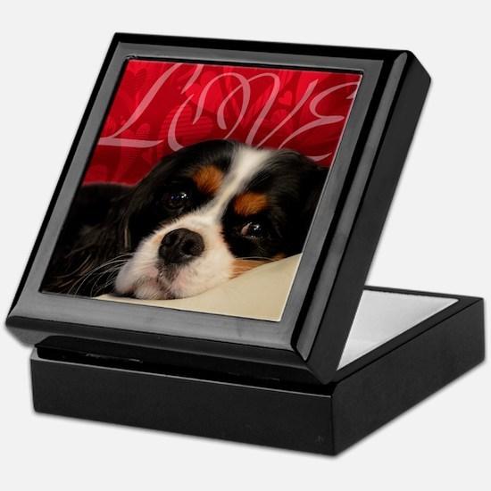 Cavalier King charles Spaniel Love Keepsake Box