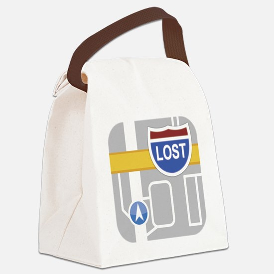 Maps Fail: Lost Canvas Lunch Bag
