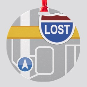 Maps Fail: Lost Round Ornament