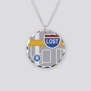 Maps Fail: Lost Necklace Circle Charm