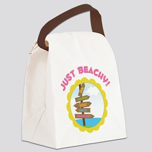 Just Beachy Canvas Lunch Bag