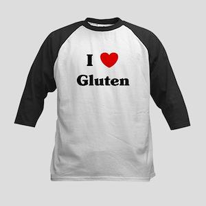 I love Gluten Kids Baseball Jersey
