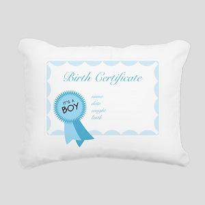 Birth Certificate Rectangular Canvas Pillow
