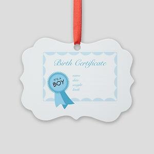 Birth Certificate Picture Ornament