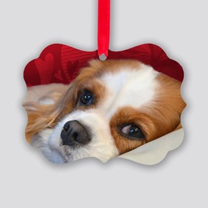 Blenheim Cavalier King Charles Sp Picture Ornament